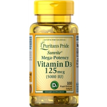 Vitamin D-3/5000 IU/100 Softgels/ glutenfrei