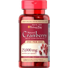 Cranberry - One A Day / 500 mg reines Cranberry-Pulver/120 Kapseln/ glutenfrei