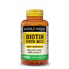 Biotin 5000 mcg/ B-7 / 60 Softgels