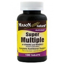 Super Multiple/Vitamins & Minerals / NEU! 34 Vitamine + Mineralstoffe in 1 Tablette / 100 Tabletten/ glutenfrei